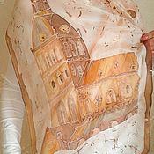 Аксессуары handmade. Livemaster - original item Shawl batik. Old Riga. Natural silk. Handmade.