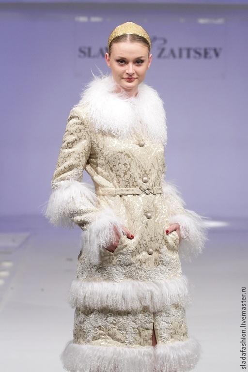 """Верхняя одежда ручной работы. Ярмарка Мастеров - ручная работа. Купить Пальто """"Снежная Королева"""". Handmade. Белый, утепленное пальто"""