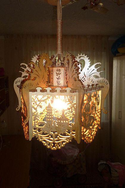 Светильник из фанеры видео
