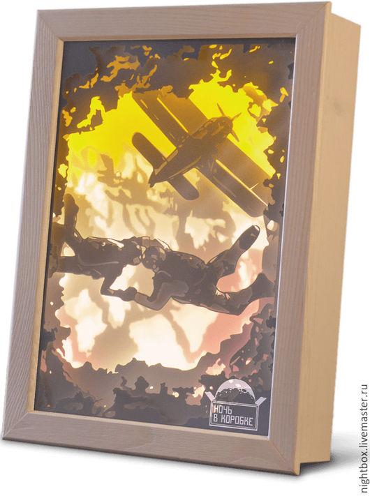 Освещение ручной работы. Ярмарка Мастеров - ручная работа. Купить На заказ! Световая картина специально для Вас. Handmade. Shadowbox