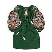 "Одежда handmade. Livemaster - original item Dress with embroidery ""The Miracle Tree"". Handmade."