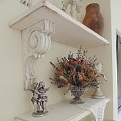 Для дома и интерьера ручной работы. Ярмарка Мастеров - ручная работа полка с консолью Шебби шик в моей комнате. Handmade.