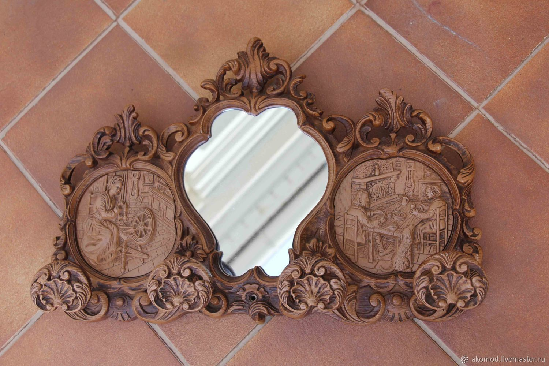 Зеркала ручной работы. Ярмарка Мастеров - ручная работа. Купить Оригинальный красивый предмет -  зеркало - вешалка. Европа. Handmade. Зеркало