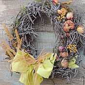 Для дома и интерьера ручной работы. Ярмарка Мастеров - ручная работа венок на дверь  интерьерный подвеска весна и пасха. Handmade.