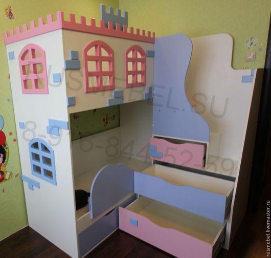 Детская ручной работы. Ярмарка Мастеров - ручная работа. Купить Двухъярусная кровать Замок 70/160. Handmade. Двухъярусная кровать