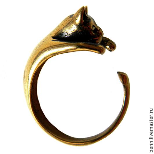 """Кольца ручной работы. Ярмарка Мастеров - ручная работа. Купить Кольцо """"Кот"""". Handmade. Кот, подарок, любовь, кольцо с котом"""
