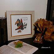 Картины и панно handmade. Livemaster - original item Pictures: The learned crow. Handmade.