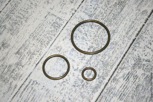 Шитье ручной работы. Ярмарка Мастеров - ручная работа. Купить Кольцо латунь 3 размера. Handmade. Металлическая фурнитура