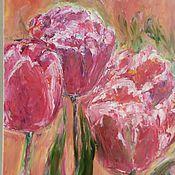 Картины и панно ручной работы. Ярмарка Мастеров - ручная работа Картина Шепот тюльпанов. Handmade.