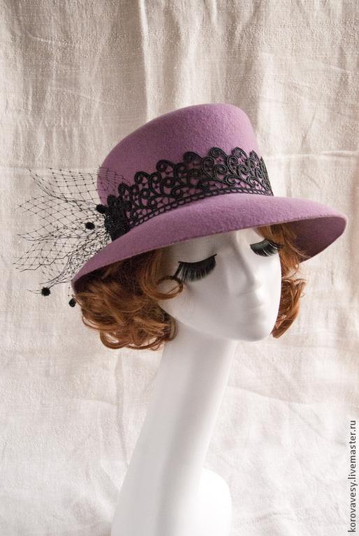 """Шляпы ручной работы. Ярмарка Мастеров - ручная работа. Купить Широкополая шляпа """"Хризантемы цветут"""". Handmade. Сиреневый, шляпа"""