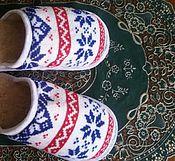Обувь ручной работы. Ярмарка Мастеров - ручная работа Тапочки с кантом ` ` Скандинавия ` ` пошиты из натуральных материалов.. Handmade.