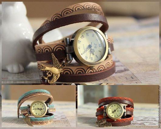 """Часы ручной работы. Ярмарка Мастеров - ручная работа. Купить Часы наручные """"Микс"""". Handmade. Часы ручной работы"""