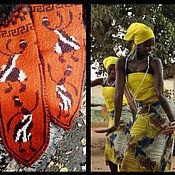 """Аксессуары ручной работы. Ярмарка Мастеров - ручная работа Носочки женские """"Африканки"""". Handmade."""