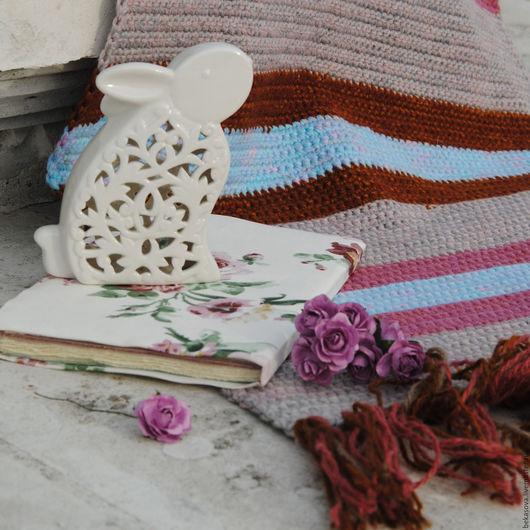 """Текстиль, ковры ручной работы. Ярмарка Мастеров - ручная работа. Купить Коврик """"Нежность"""". Handmade. Коврик, ковры, вязаный крючком"""