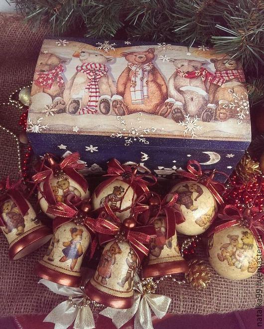 """Новый год 2017 ручной работы. Ярмарка Мастеров - ручная работа. Купить """" Мишкины ожидания """".  Новогодний набор. Handmade."""