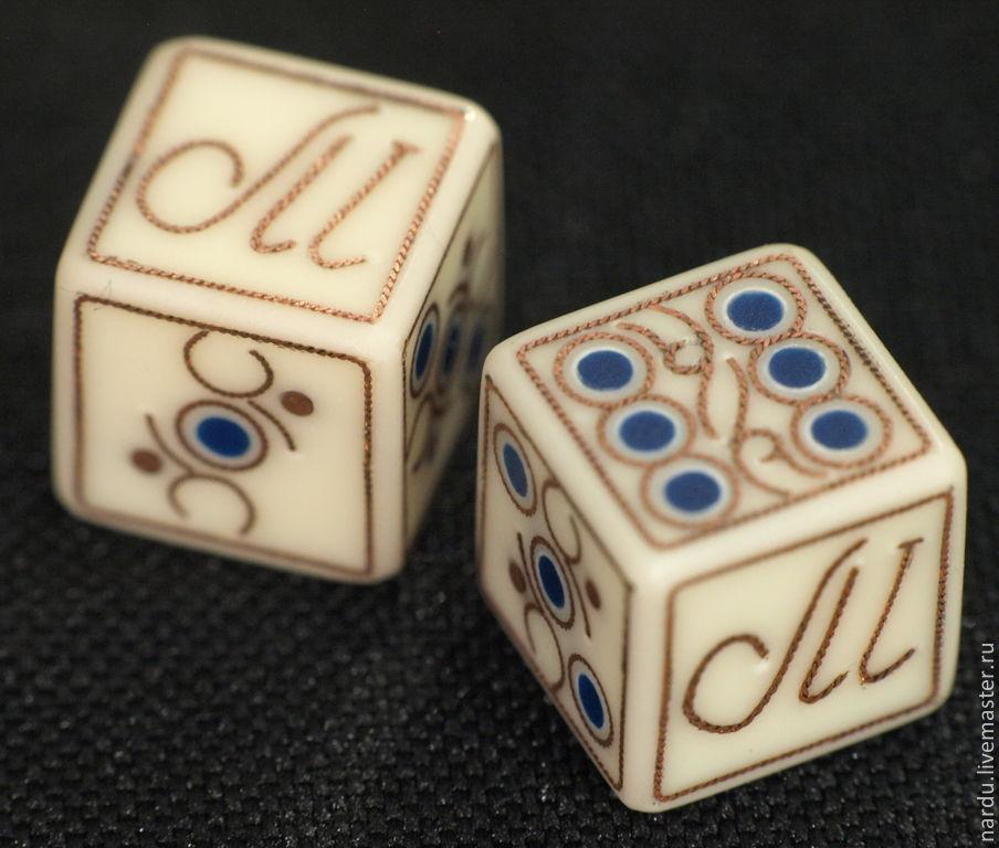 Купить Кости игральные для нард - белый, кубики, зарики, зары HC72