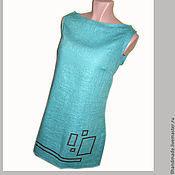 """Платья ручной работы. Ярмарка Мастеров - ручная работа Платье с вышивкой """"Геометрия"""" - натуральный лён. Handmade."""