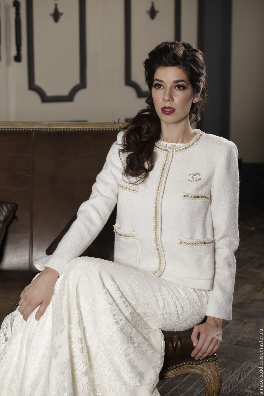 Свадебное Пальто Белое Женское Пальто «Шанэль», Платья, Москва,  Фото №1