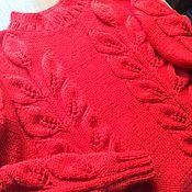 Одежда ручной работы. Ярмарка Мастеров - ручная работа Джемпер листья. Handmade.