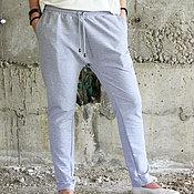 Одежда ручной работы. Ярмарка Мастеров - ручная работа Спортивные брюки - серые P0003. Handmade.