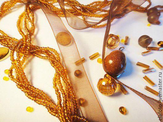 Фото-работы ручной работы. Ярмарка Мастеров - ручная работа. Купить Рыжая композиция. Handmade. Рыжий, фурнитура, ленты, камни