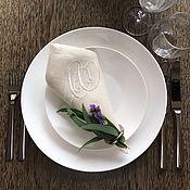 Подарки к праздникам handmade. Livemaster - original item napkin with embroidery of your monogram. Handmade.