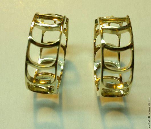 Серьги ручной работы. Ярмарка Мастеров - ручная работа. Купить Серьги золотые. Handmade. Золотой, сережки ручной работы