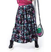 Одежда ручной работы. Ярмарка Мастеров - ручная работа Юбка летняя на кокетке. Handmade.