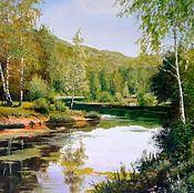 Картины и панно handmade. Livemaster - original item 16 oil Painting landscape Berezy have reci author`s work. Handmade.