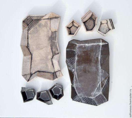 Сервизы, чайные пары ручной работы. Ярмарка Мастеров - ручная работа. Купить Оригами. Handmade. Чёрно-белый, керамика, глина