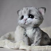 """Куклы и игрушки ручной работы. Ярмарка Мастеров - ручная работа """"Оливия"""" котенок. Handmade."""