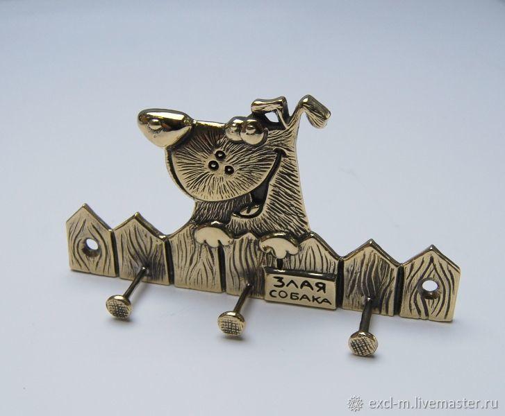 Ключница (вешалка) Злая собака, Ключницы настенные, Москва,  Фото №1