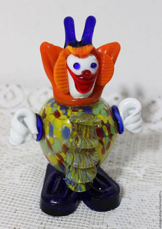 """Винтажные предметы интерьера. Ярмарка Мастеров - ручная работа. Купить Весёлый клоун, муранское стекло, Италия """"Jouska"""", 1970-е г.г.. Handmade."""