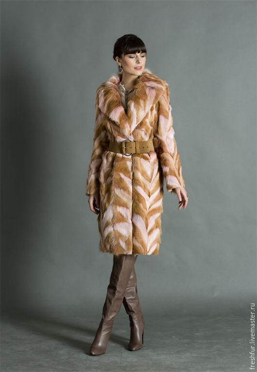 """Верхняя одежда ручной работы. Ярмарка Мастеров - ручная работа. Купить Пальто из лисы """"Твист"""". Handmade. Рыжий, шуба из лисы"""