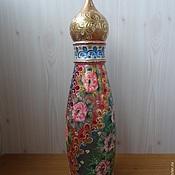"Бутылки ручной работы. Ярмарка Мастеров - ручная работа Футляр под бутылку "" Церковь"". Handmade."