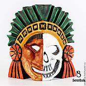 """Для дома и интерьера ручной работы. Ярмарка Мастеров - ручная работа Маска ацтекская """"живой - мертвый"""". Handmade."""