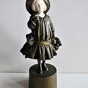 Винтаж handmade. Livemaster - original item Peter Tereszczuk Ivory Bronze Rare Statuette Austria. Handmade.