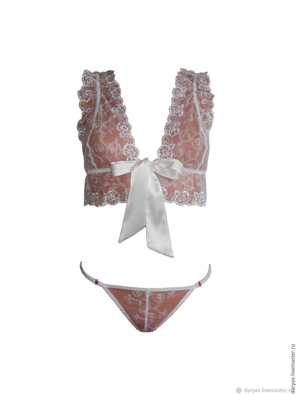 c1d26f4d26f Darya Vecher Wedding   Resort Underwear   Pajamas handmade. White lace  lingerie set. Darya Vecher Wedding   Resort.