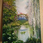 Картины ручной работы. Ярмарка Мастеров - ручная работа Картины: Ива у пруда. Handmade.