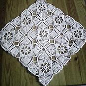 Для дома и интерьера ручной работы. Ярмарка Мастеров - ручная работа Салфетка вязаная квадратная. Handmade.