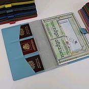 Сумки и аксессуары handmade. Livemaster - original item Folder organizer for A4 documents with a blue clasp. Handmade.
