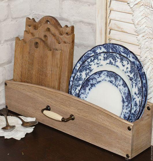 Кухня ручной работы. Ярмарка Мастеров - ручная работа. Купить Кухонный короб из дуба. Handmade. Подставка, кухонная доска, Дуб