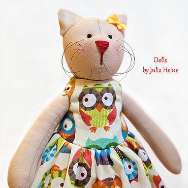 Кошечка тильда в платье
