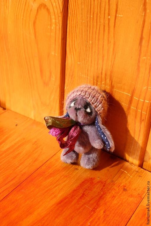 Мишки Тедди ручной работы. Ярмарка Мастеров - ручная работа. Купить Зайка. Handmade. Бледно-сиреневый, подарок, гранулят