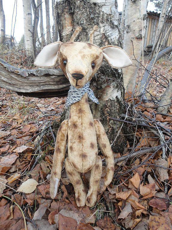 Мишки Тедди ручной работы. Ярмарка Мастеров - ручная работа. Купить жираф  Жорик . Handmade. Мишки тедди, плюш винтажный