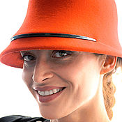 """Аксессуары ручной работы. Ярмарка Мастеров - ручная работа Фетровая шляпа """"Лесли"""". Handmade."""