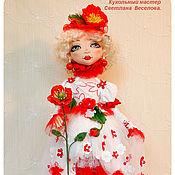 Куклы и игрушки ручной работы. Ярмарка Мастеров - ручная работа авторская кукла Маковая Росинка. Handmade.