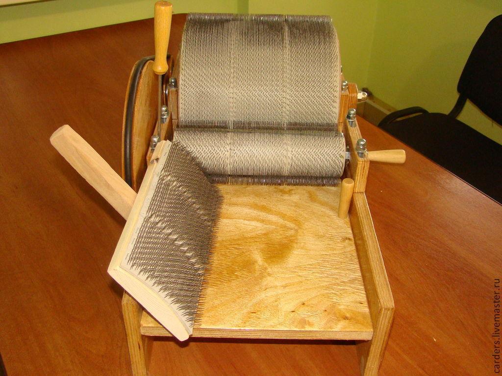 Купить Кардер барабанный для вычесывания шерсти. - шерсть, шерсть мериноса, обработка шерсти, кардочесанная шерсть