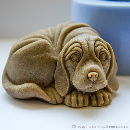 Silicone mold for soap 'Dog 3D', Form, Shahty,  Фото №1