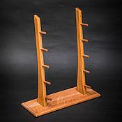 Сувениры и подарки handmade. Livemaster - original item Stand for 5 knives with beech wood. Handmade.